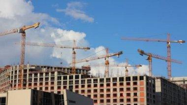 工作建筑起重机-尕 — 图库视频影像