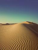 Evening desert - vintage retro style — Stock Photo