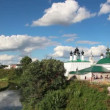 View on churches in Suzdal Russia - timelapse — Stock Video