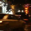 Stock Video: Evening car traffic at rush hour in moscow - timelapse