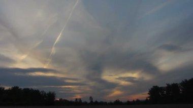 Timelapse with sunrise clouds — Vidéo