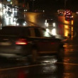 Stock Video: Evening car traffic at rush hour in moscow