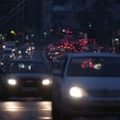 Evening car traffic at rush hour in moscow — Stock Video