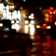 Defocused evening car traffic at rush hour - timelapse — Stock Video