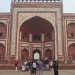 Taj Mahal entrance in Agra — Stock Video #38722763