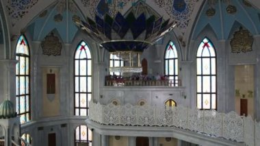 Interior of kul sharif mosque - kazan russia — Stock Video