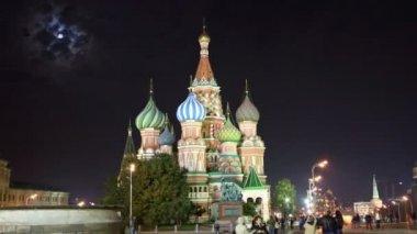 St. Basil Church (Vasiliy Blazhenniy) in Moscow Russia - hyperlapse — Vidéo