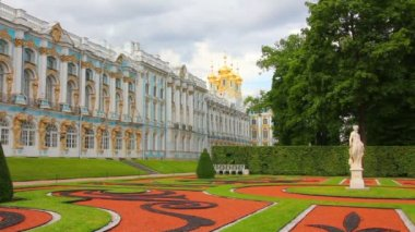 Catherine Palace in Pushkin, St. Petersburg Russia — Stock Video