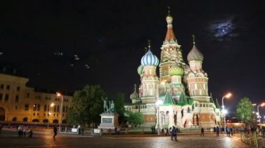 St. Basil Church (Vasiliy Blazhenniy) in Moscow Russia — Stock Video