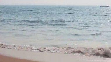 Fishermen boats in sea - Kerala India timelapse — Stock Video