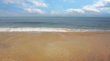 Beautiful beach landscape in India — Stockvideo