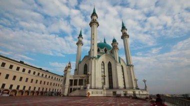 Kul sharif mosque in kazan russia - timelapse — Stock Video