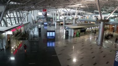 Vnukovo airport terminal interior in Moscow — Video Stock