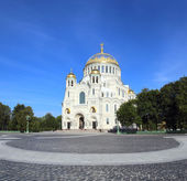 Naval Cathedral in Kronstadt Saint-petersburg — Stock Photo
