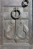 Anchor - detail of entrance in Naval Cathedral - Saint-petersbur — Stock Photo