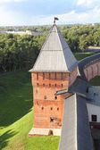 Tower of Kremlin in Veliky Novgorod — Stockfoto