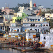 Ritual bathing in holy lake in Pushkar — Stock Photo #39954661
