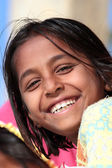 Portrait of happy village indian girl — Stock Photo
