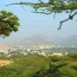 View from hill on holy city Pushkar in India — Stock Photo #39966091