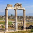 Stock Photo: Fragment of ancient building near Pamukkale in Turkey