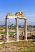 Fragment of ancient building near Pamukkale in Turkey — Stock Photo