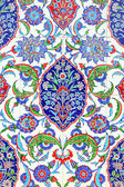 Floral ornament on tiles — Foto Stock