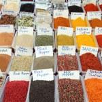 Variety of spices on turkish market — Stock Photo #41334073