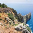 Stock Photo: Rocky headland in seand fortress wall in Alanya