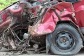 Car after crash — Stock Photo