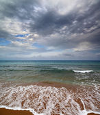 Sea landscape with moody sky — Stock Photo