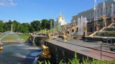 ünlü petergof panoraması samson — Stok video