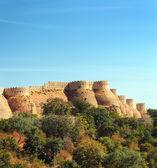Wall of kumbhalgarh fort — Stock Photo