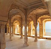 Columns in palace - Jaipur India — Stock Photo