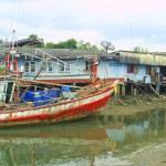 Fishermen's huts in Thailand — Stock Photo #1123482