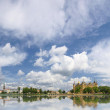 Panoramic view of Schwerin old town with castle — Stock Photo #12665164