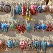 Colourful handmade asian-style earrings — Stock Photo #12665161
