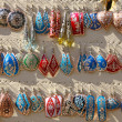 Stock Photo: Colourful handmade asian-style earrings
