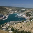 Aerial view of Balaklava bay - Stock Photo
