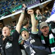 Borussia Monchengladbach team supporters show their support - Stock Photo