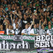 Borussia Monchengladbach team supporters show their support — Stock Photo #12716651