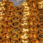 Close-up traditional Turkish baklava cakes — Stock Photo