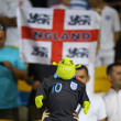 Stock Photo: English fans react after England beat of Sweden