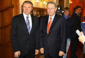 Serhiy Bubka and Jacques Rogge — Stock Photo