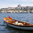 Fishing boat in the Golden Horn Gulf in Istanbul - Stock Photo