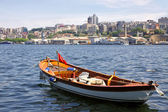 Fishing boat in the Golden Horn Gulf in Istanbul — Stock Photo