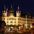 Schwerin Castle at night, Germany — Stock Photo