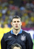 James Milner of England sings the national anthem — Stock Photo
