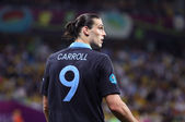 Striker Andy Carroll of England — Stock Photo