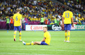 UEFA EURO 2012 game Sweden vs England — Stock Photo