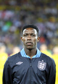 Danny Welbeck of England sings the national anthem — Stock Photo